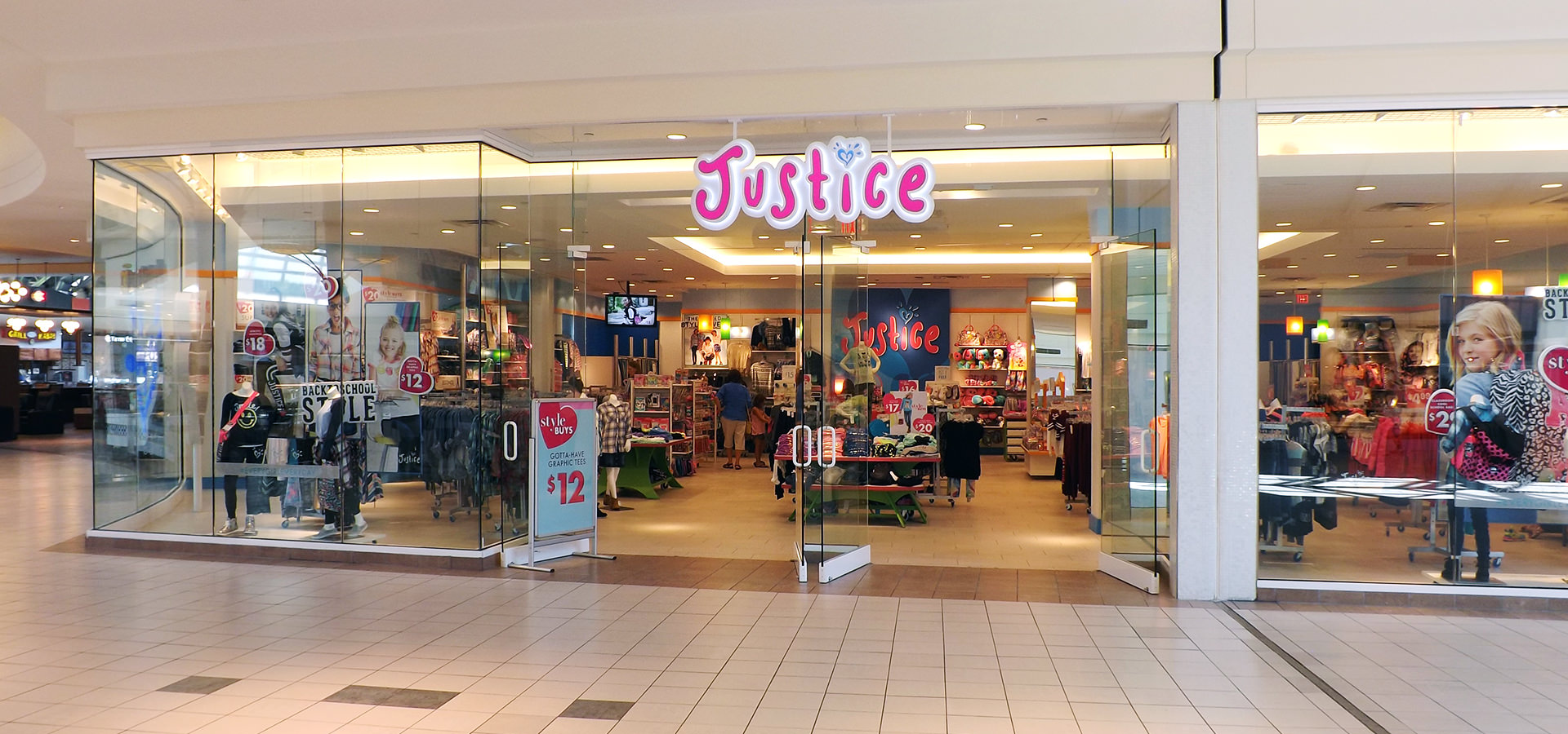 Justice clothing store locations