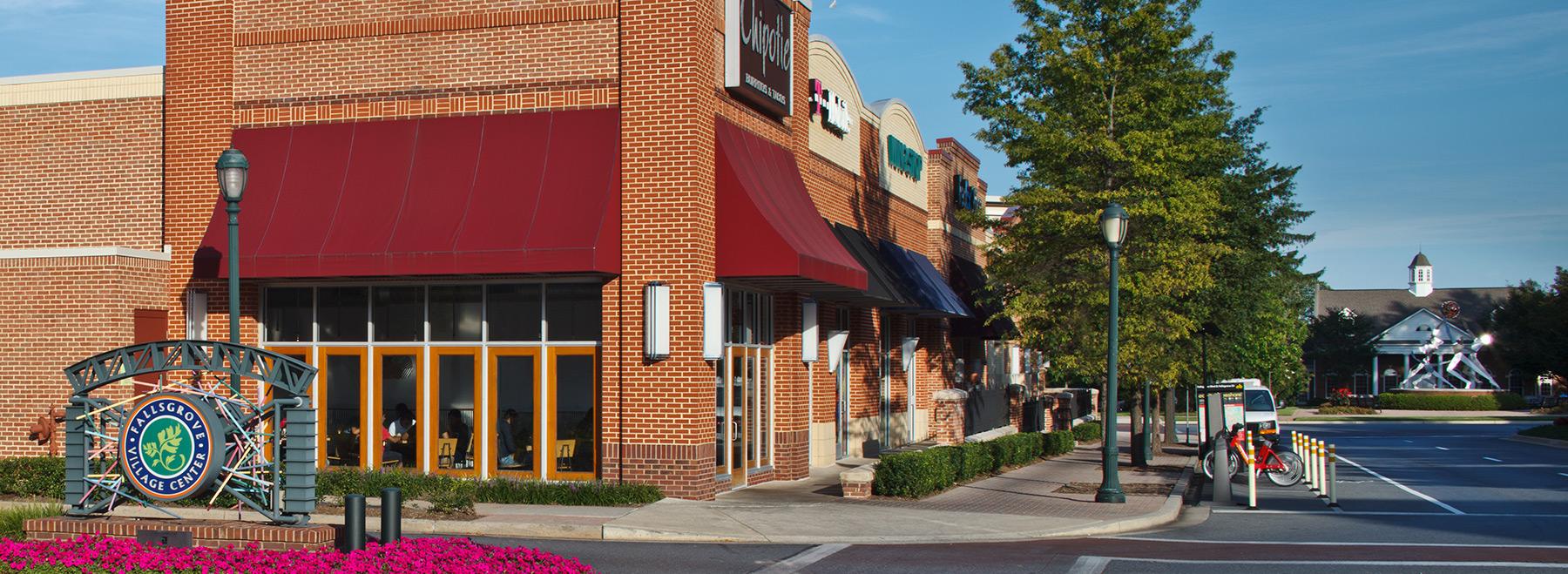 shopping center in rockville md fallsgrove village center