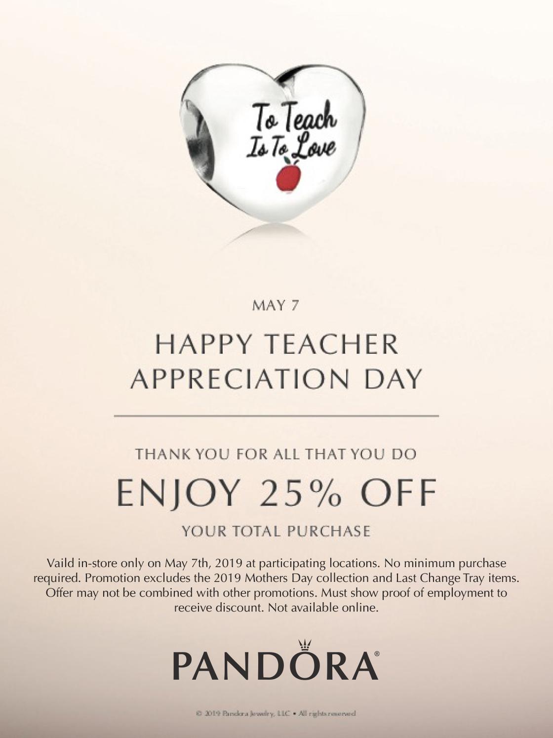 7a969f1322d Teacher Appreciation Day at Pandora   Events   Dulles Town Center ...